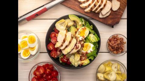 Paleo Grilled Chicken Caesar Cobb Salad Recipe | Char-Broil®