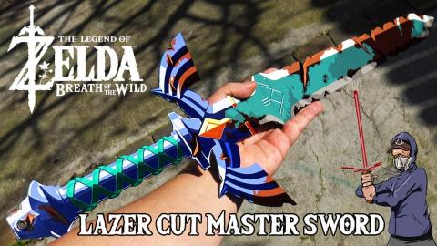 Laser Cut Master Sword From The Legend of Zelda Breath of the Wild