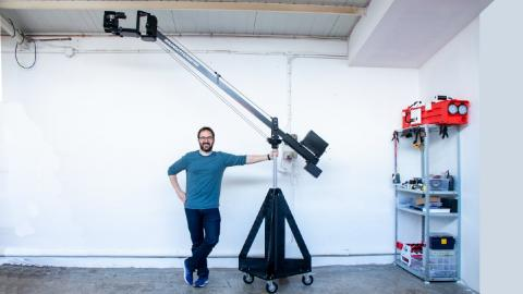 PROFESSIONAL CAMERA CRANE FROM SCRATCH
