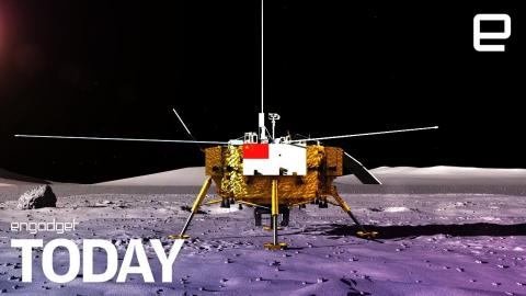 Chinese spacecraft makes historic 'dark side' lunar landing | Engadget Today