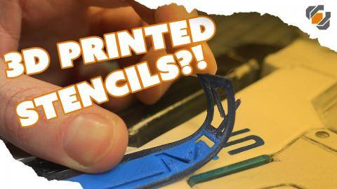 3D Printed Stencils for Prop & Costume Making - TUTORIAL