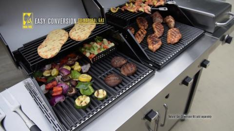 Char-Broil Commercial Series TRU-Infrared Double Header Gas Grill
