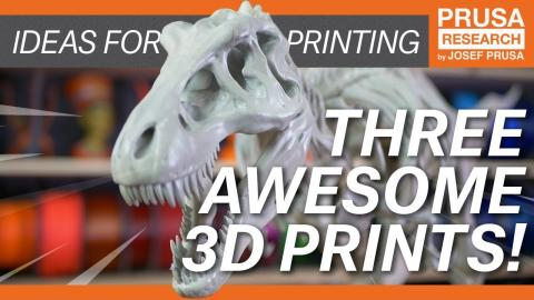 Cool 3D prints from our office: T-Rex, Boxer Engine & 3D Clocks