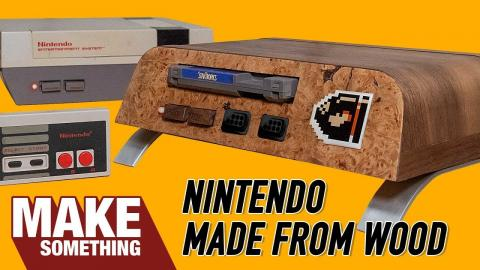 I Made a Nintendo NES out of Wood.