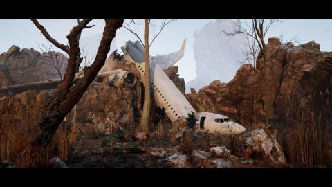 Crashed Airplane (Unreal Engine 5 / Lumen, Nanite & Megascans)