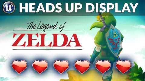 Setting Up The HUD - #2 Let's Create Legends Of Zelda (Unreal Engine 4)