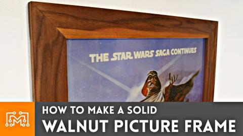 How to make a solid walnut picture frame // Woodworking