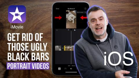 iMovie for iOS - Getting rid of the black bars and creating portrait orientation videos