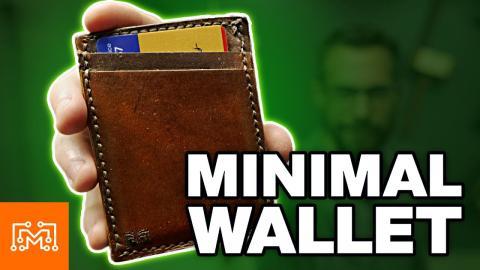 Make a Minimal Leather Wallet | I Like To Make Stuff
