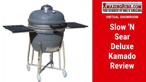Watch Part 1 of our Slow 'N Sear Deluxe Kamado Review