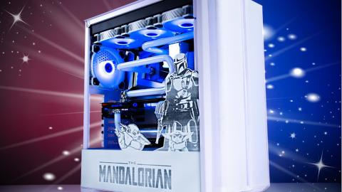 ULTIMATE Mandalorian Themed Custom Water Cooled Gaming PC - MONTECH Sky One