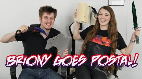 BRIONY goes POSTAL! - Takes a KNIFE to GAMING CHAIRS!
