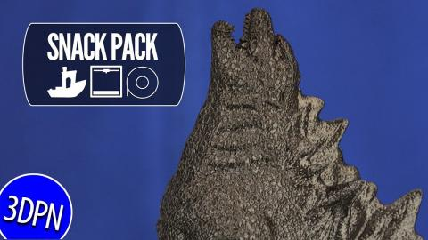 The KING OF MONSTERS - 3D Printing Godzilla by Chaos Coretech [SNACK PACK]