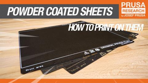 How to print on a powder-coated sheet