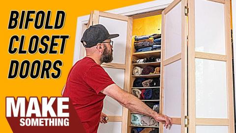 How to Make Custom Closet Bifold Doors | Woodworking Project