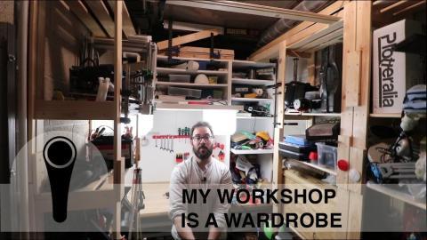 MY WORKSHOP IS A WARDROBE