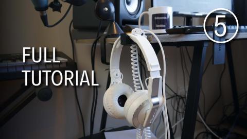 Designing a Headphones Holder in Tinkercad - Full Tutorial