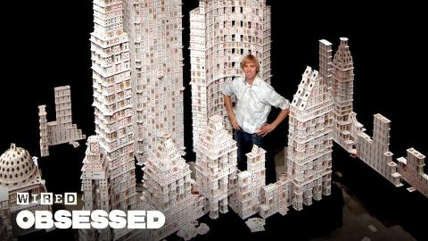 How This Guy Stacks Playing Cards Impossibly High | Obsessed | WIRED