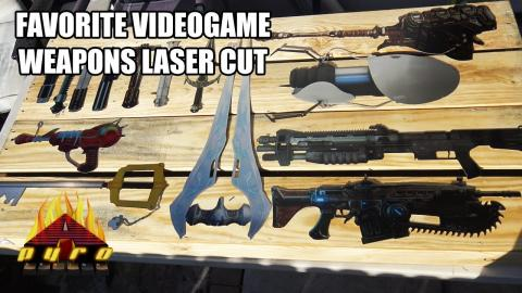 Choose Your Weapon!  Videogame Weapons Cut out with a 500 Watt Fiber Laser.