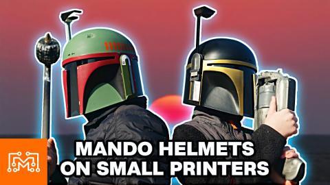 Mandalorian Helmets Using Small 3d Printers | I Like To Make Stuff