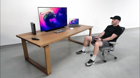 New 48-inch Massive OLED Desk Setup