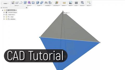 How to draw a Tetrahedron in Fusion 360
