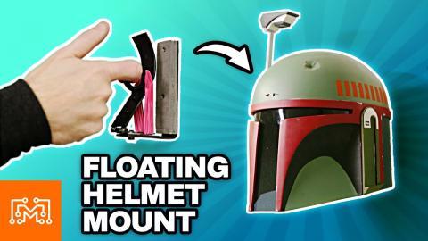 Floating Helmet Display Mounts | I Like To Make Stuff