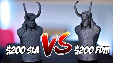 $200 Resin 3D Printer vs $200 FDM 3D Printer   Monoprice MP Mini SLA vs Creality Ender 3