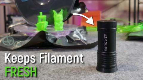 Should you store filament in reusable vacuum bags? Nanovac + Airlock review and test