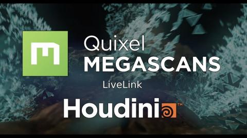 Megascans Live Link for Houdini: One-click export plugin