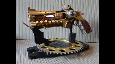 Shortest video for my BEST steampunk gun -___-