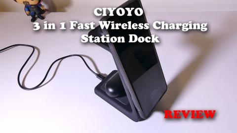 CIYOYO 3 in 1 Fast Wireless Charging Station REVIEW