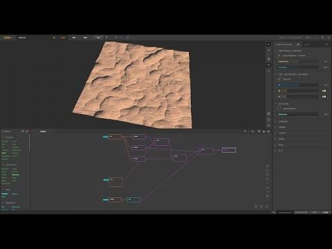 Gaea 1.2 Tutorial | Mars Dunes Terrain Breakdown [Request]