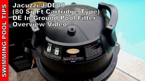 Jacuzzi® J-DEQ80 80 sq. ft. D.E. Cartridge Style Pool Filter, 3 Year Warranty! On Sale Now for $779!