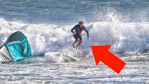 kite surfing idiot nearly cut my feet off