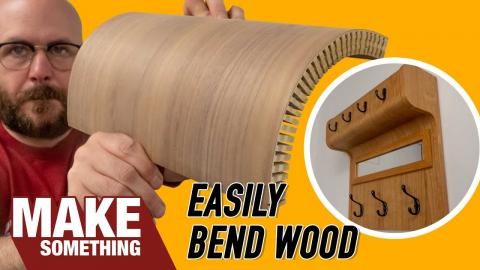 How to Quickly Kerf Bend Plywood and Solid Wood | Woodworking Coat Rack Project