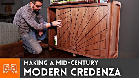 Making a Mid Century Modern Credenza