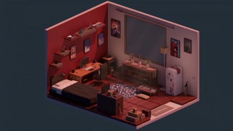Timelapse | Comfy Room | Blender 2.9