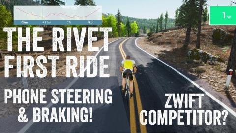 The Rivet - Indoor Training App: First Ride - with Steering/Braking
