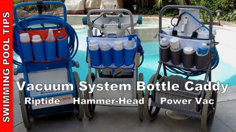 Vacuum System Bottle Caddy for the Riptide, Hammer-Head and Power Vac Service Carts