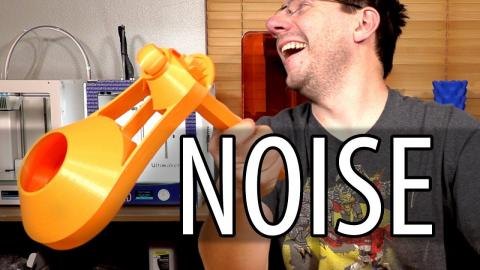 3D Printing the ULTIMATE Party Noise Maker! Thanks to Works by Solo!