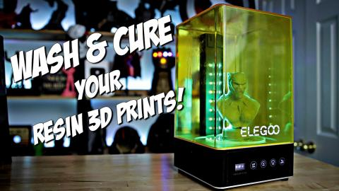 ELEGOO Mercury Plus 2 in 1 Washing and Curing Machine Review | Resin 3D Printing Cleaning