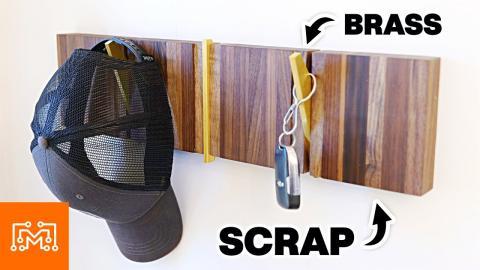 Modern Coat Rack From Scraps | I Like To Make Stuff