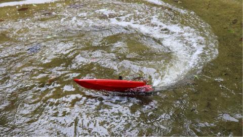 LAKE DIGGING BOAT