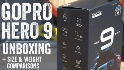 GoPro Hero 9 Proper Unboxing // Size & Weight Comparisons