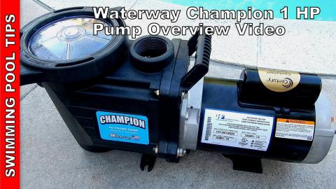 Waterway Champion 56FR 1-HP Single Speed Pump Overview Video