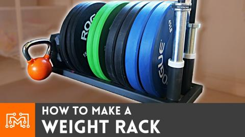 How to Make a DIY Weight Rack // Home Gym