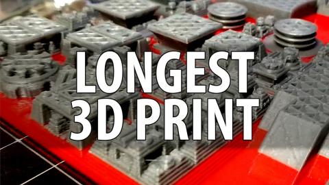 My Longest 3D Print Ever! 3D Printing HUGE Space City!