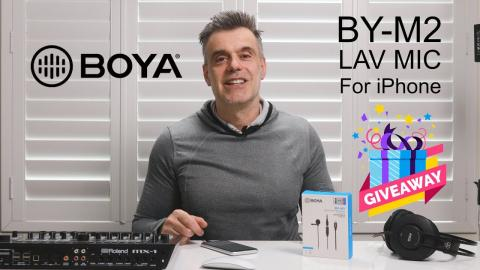 Win a BOYA BY-M2 microphone for your iPhone!