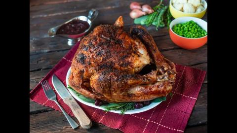 Thanksgiving Turkey with Cherry Shallot Sauce